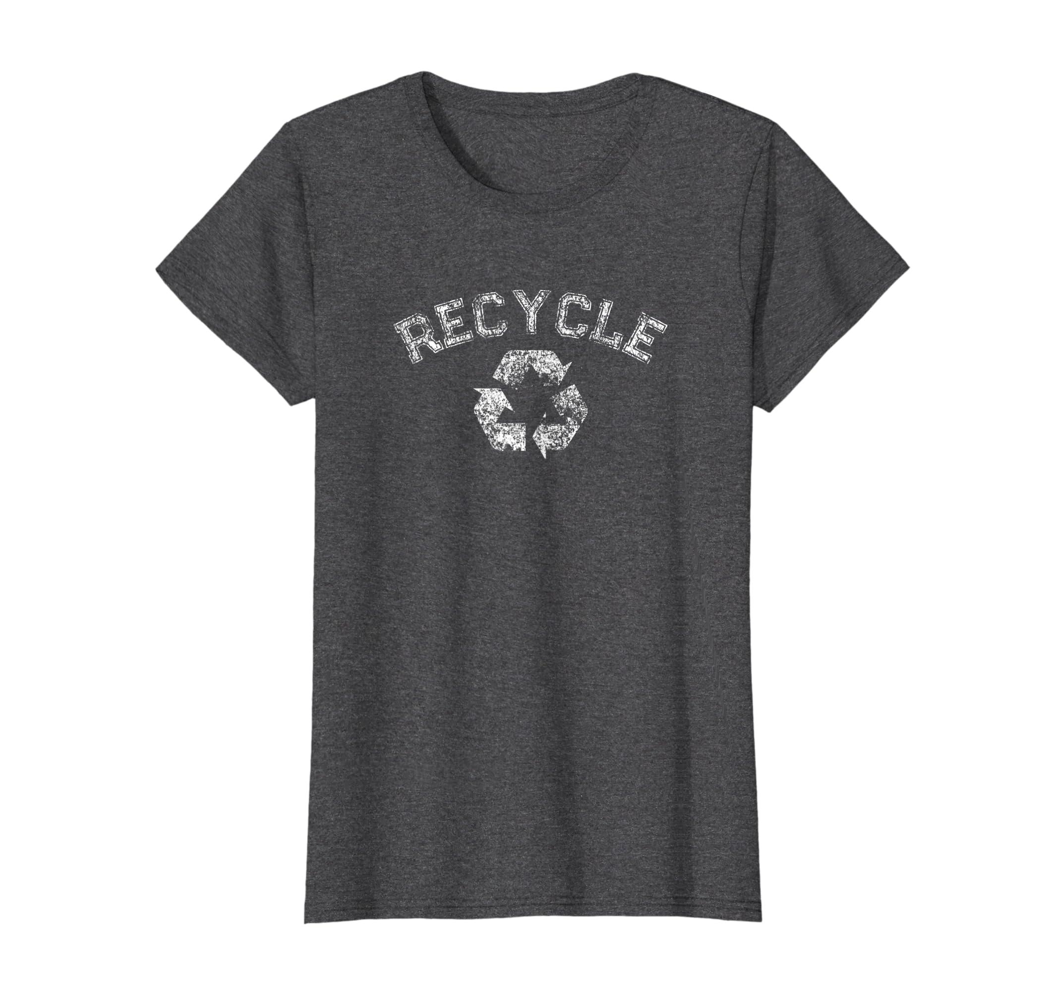 b34fec07c21 Amazon.com  Mens Graphic Tees Vintage Crunchy Hippie Recycle TShirt   Clothing