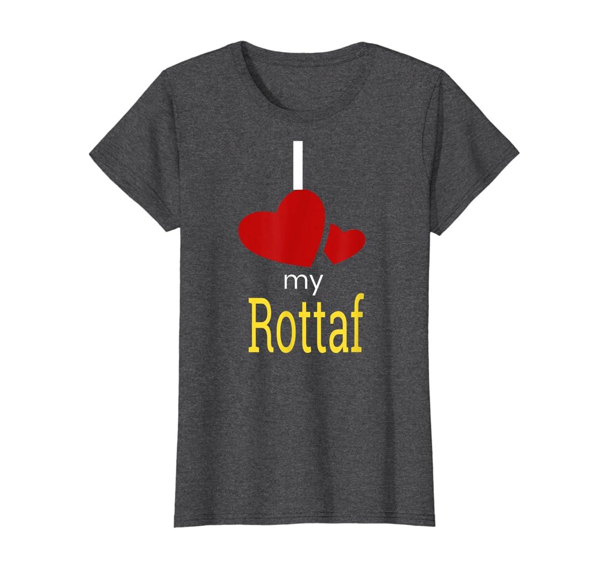 Rottaf Dog Shirt Love Rottweiler + Afghan Hound =  T-Shirt-Women's T-Shirt-Dark Heather