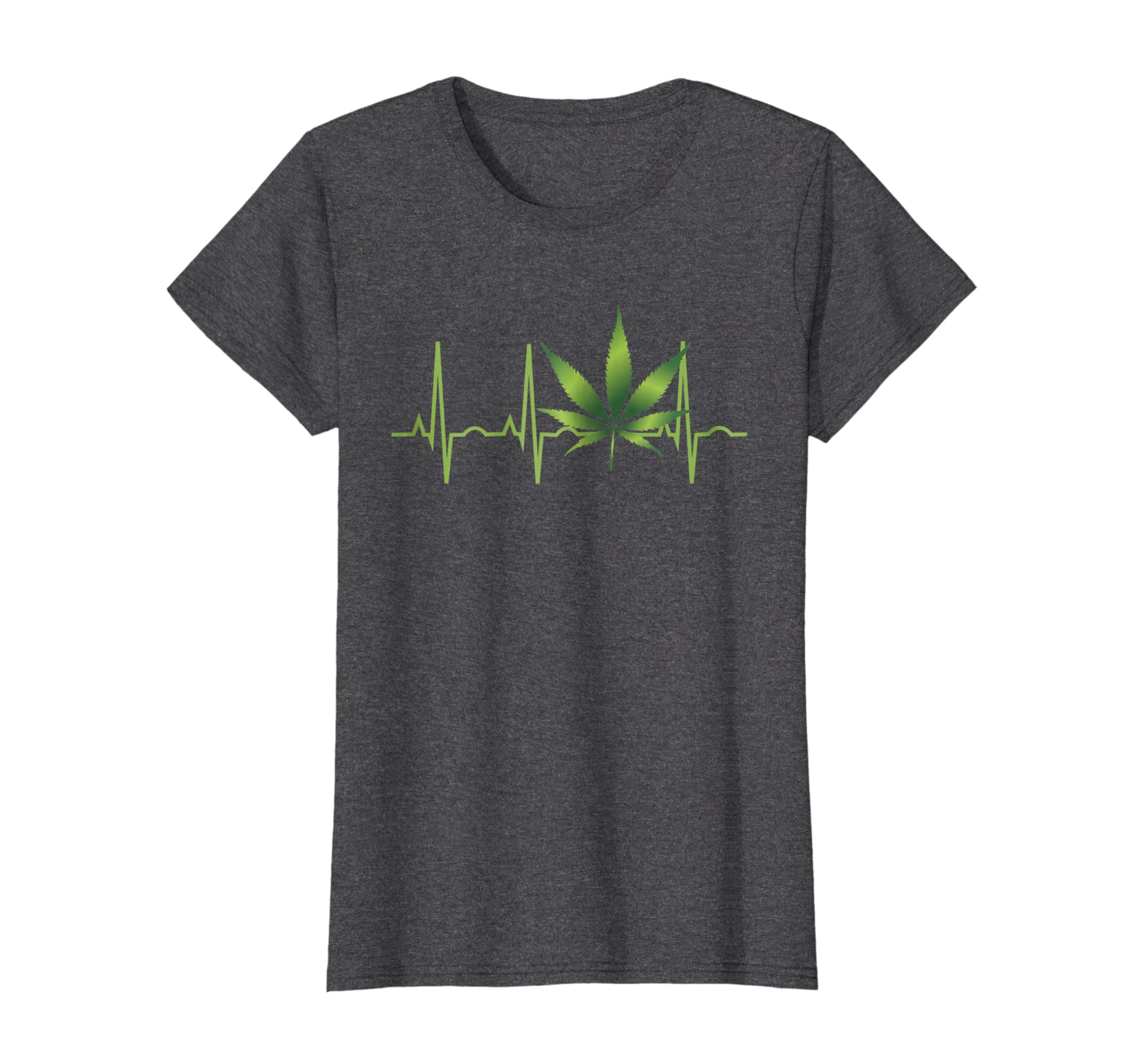 049f8b06a Amazon.com: Weed Shirts for Men & Women Marijuana Leaf Heartbeat Gift:  Clothing