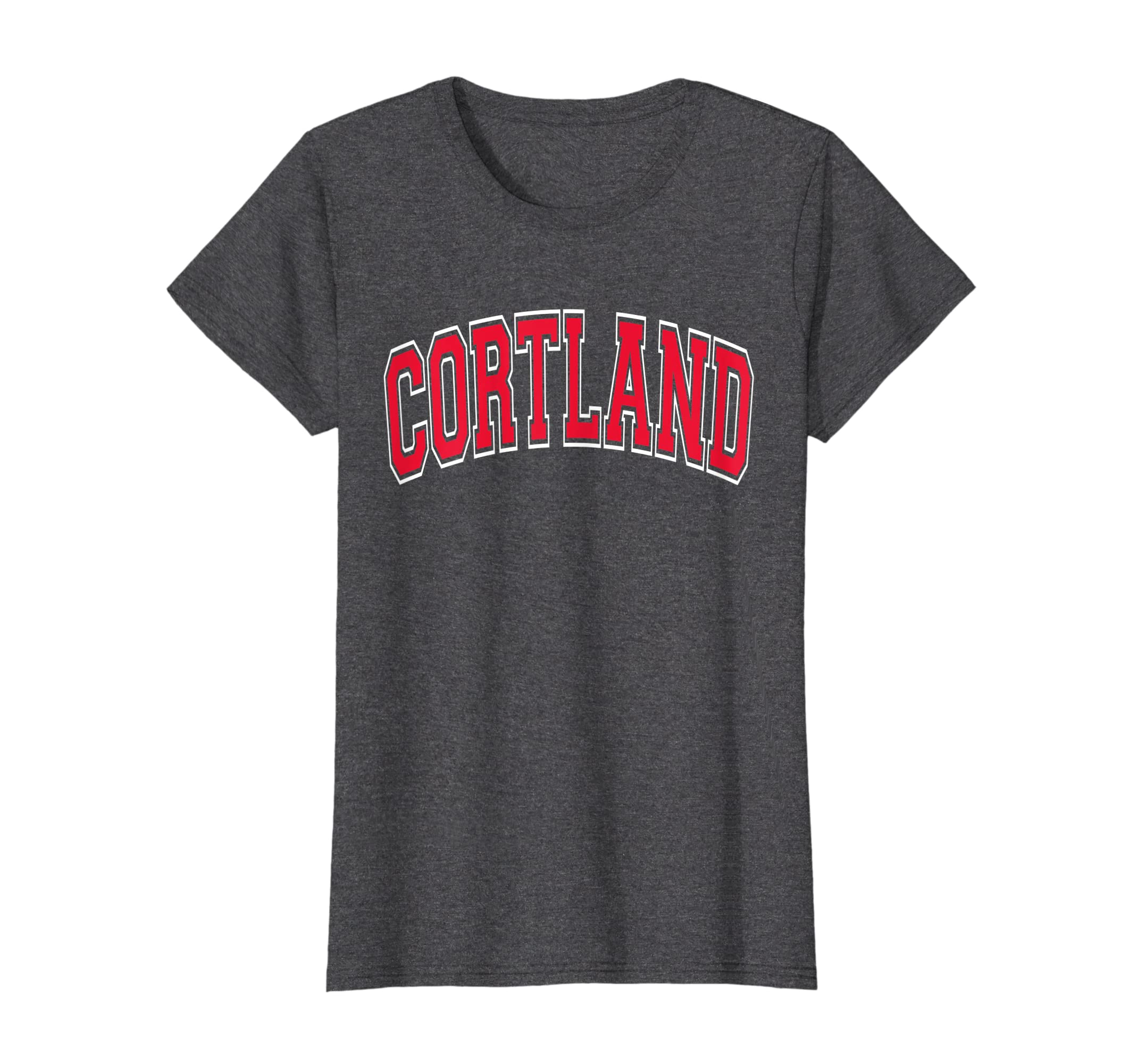 Cortland Tshirt NY – Varsity Style Red Print-Loveshirt