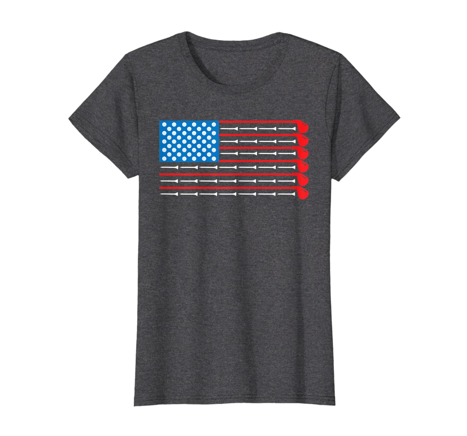 American Flag Golf Clubs, Balls and Tees Sports Shirt