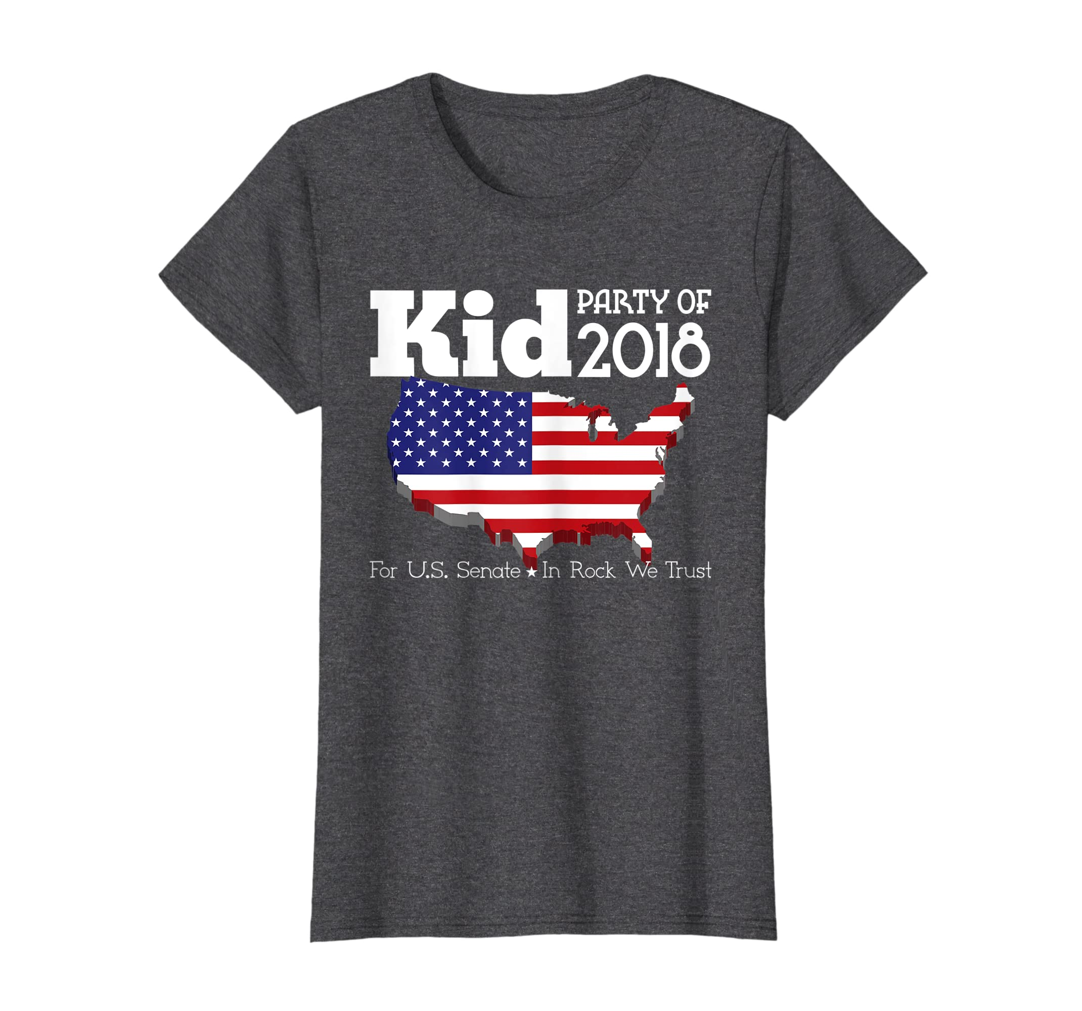 8b1f03891 Amazon.com: Kid For US Senate 2018 Election Shirt In Rock We Trust: Clothing
