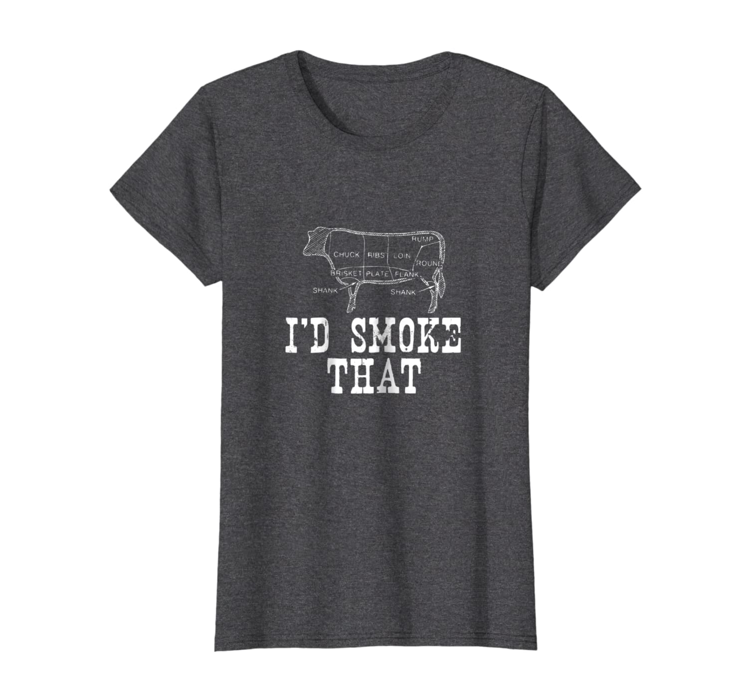 128cc13b Amazon.com: I'd Smoke That Cow BBQ T-Shirt for Grillmasters Fathers:  Clothing