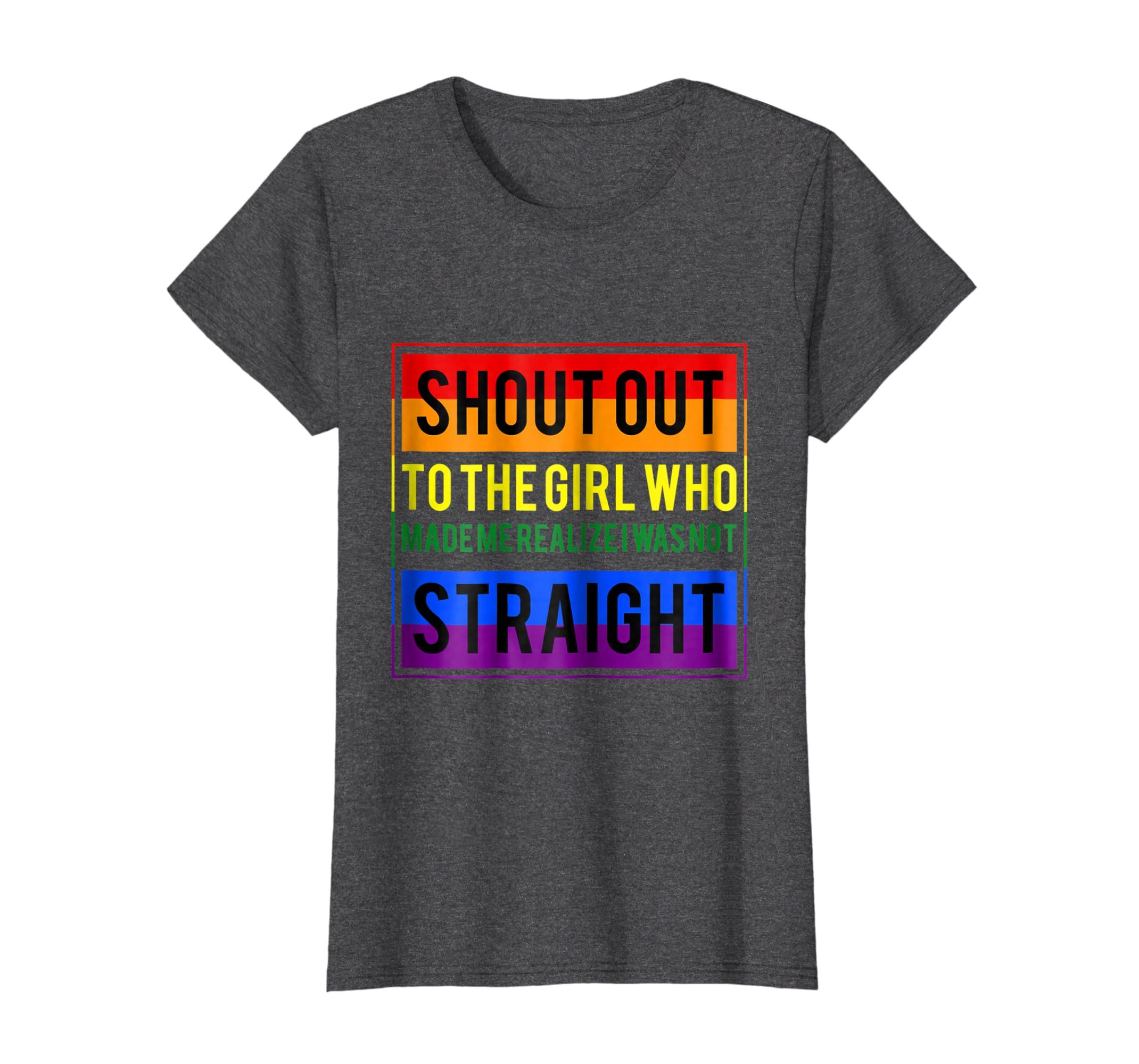 5fb16de719 Amazon.com: Lesbian T Shirt - Funny Lesbian Tee For Gay Pride: Clothing