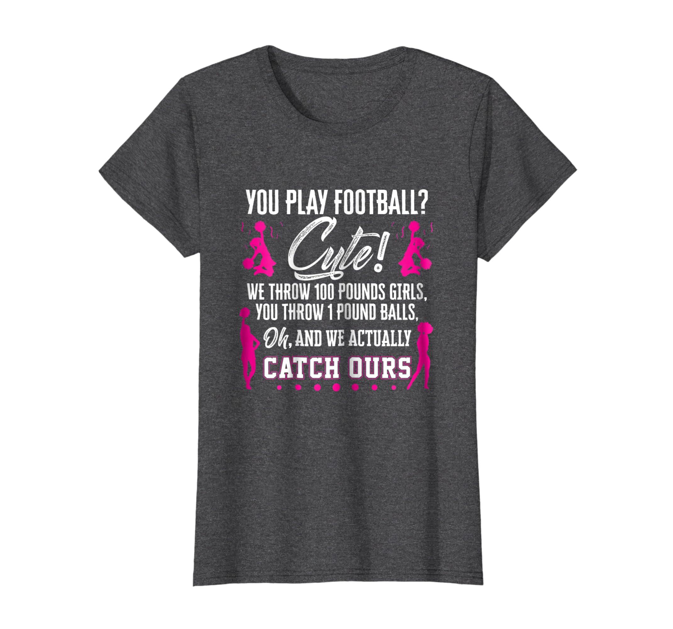 'You Play Football? Cute' Cute Cheerleading Football Shirt-Newstyleth