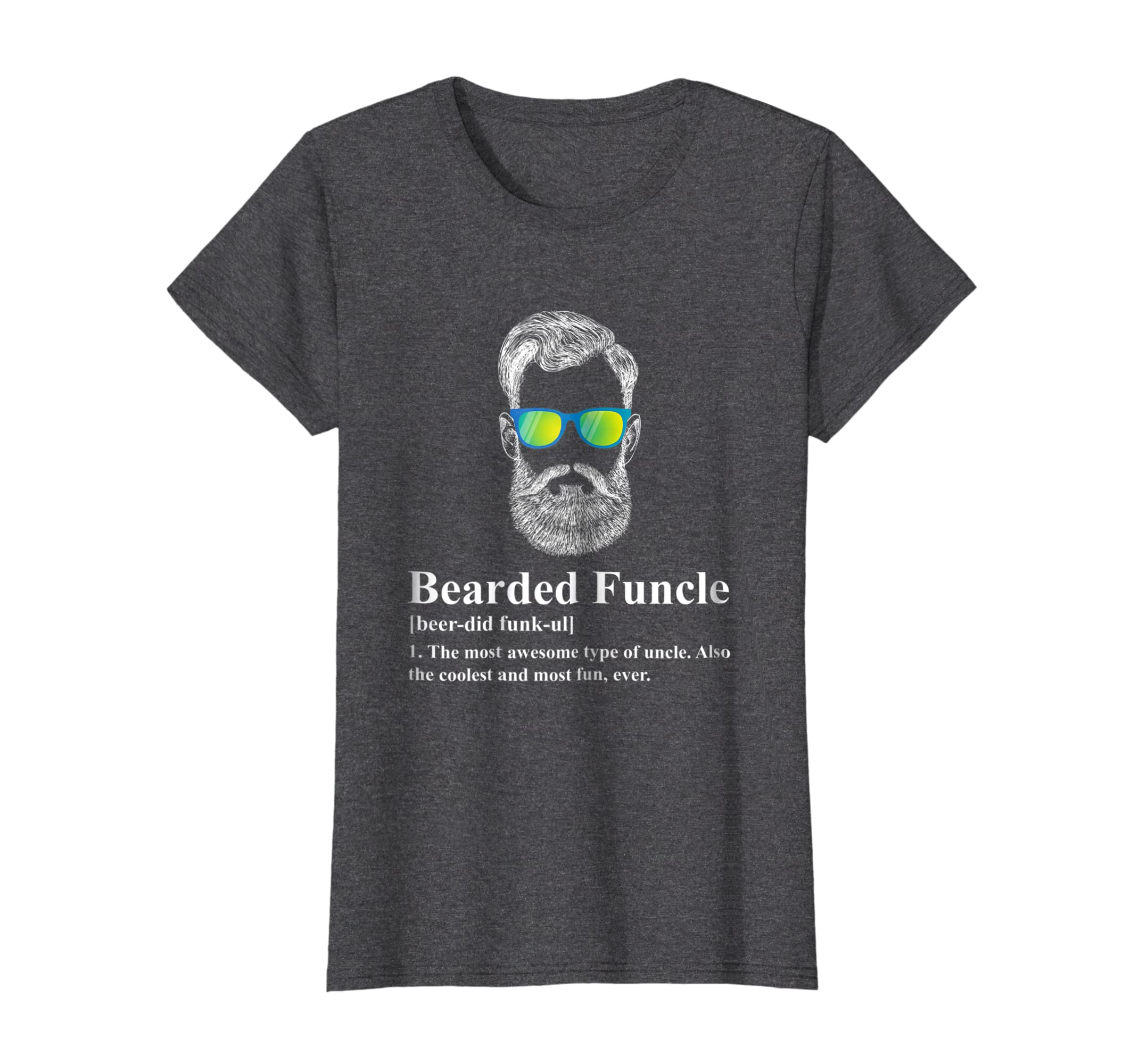 Funny Bearded Funcle Shirt for Men-Teesml