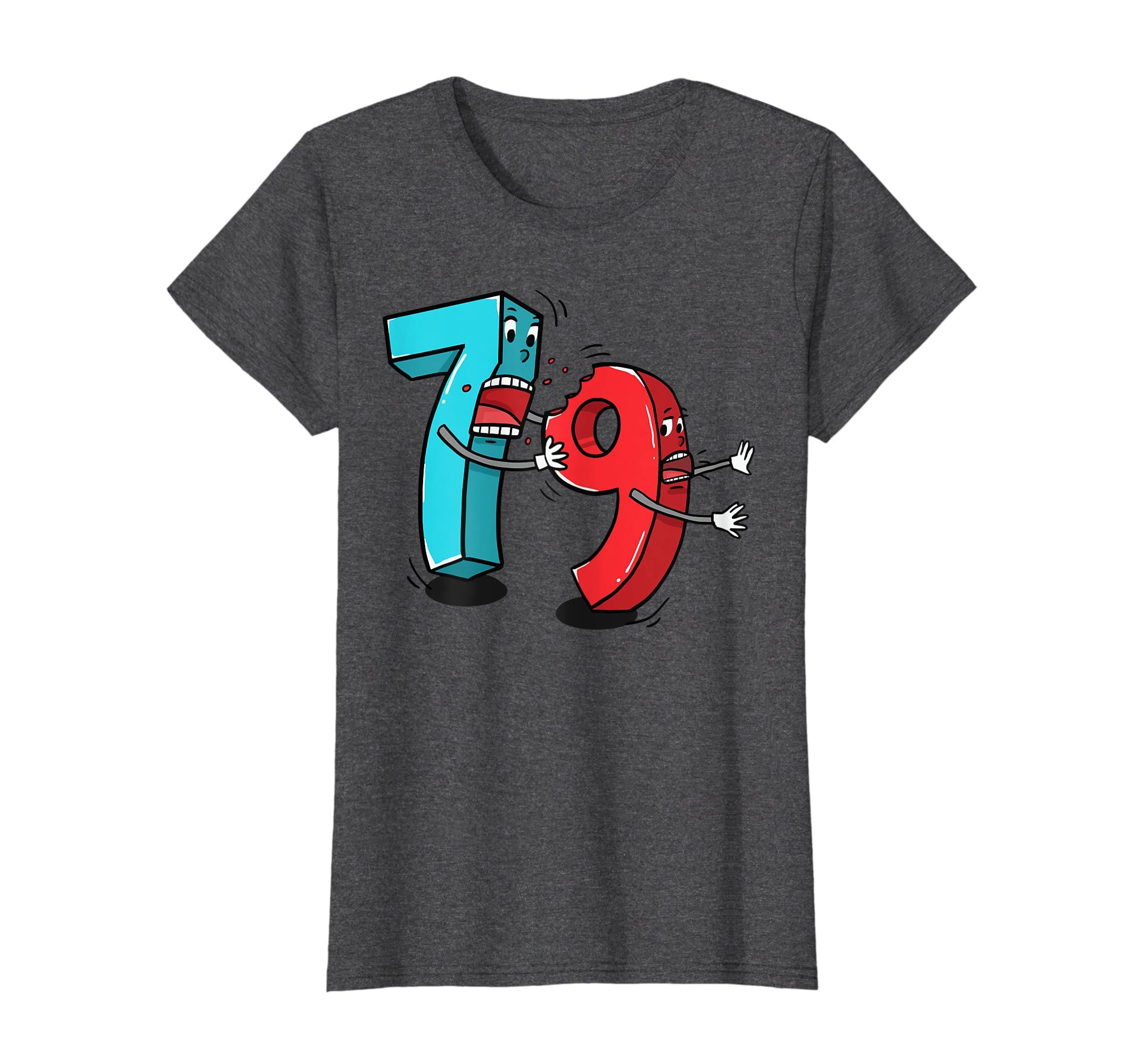 b3a3e98c40 Amazon.com: 7 ate (8) 9 Funny Math T Shirt: Clothing