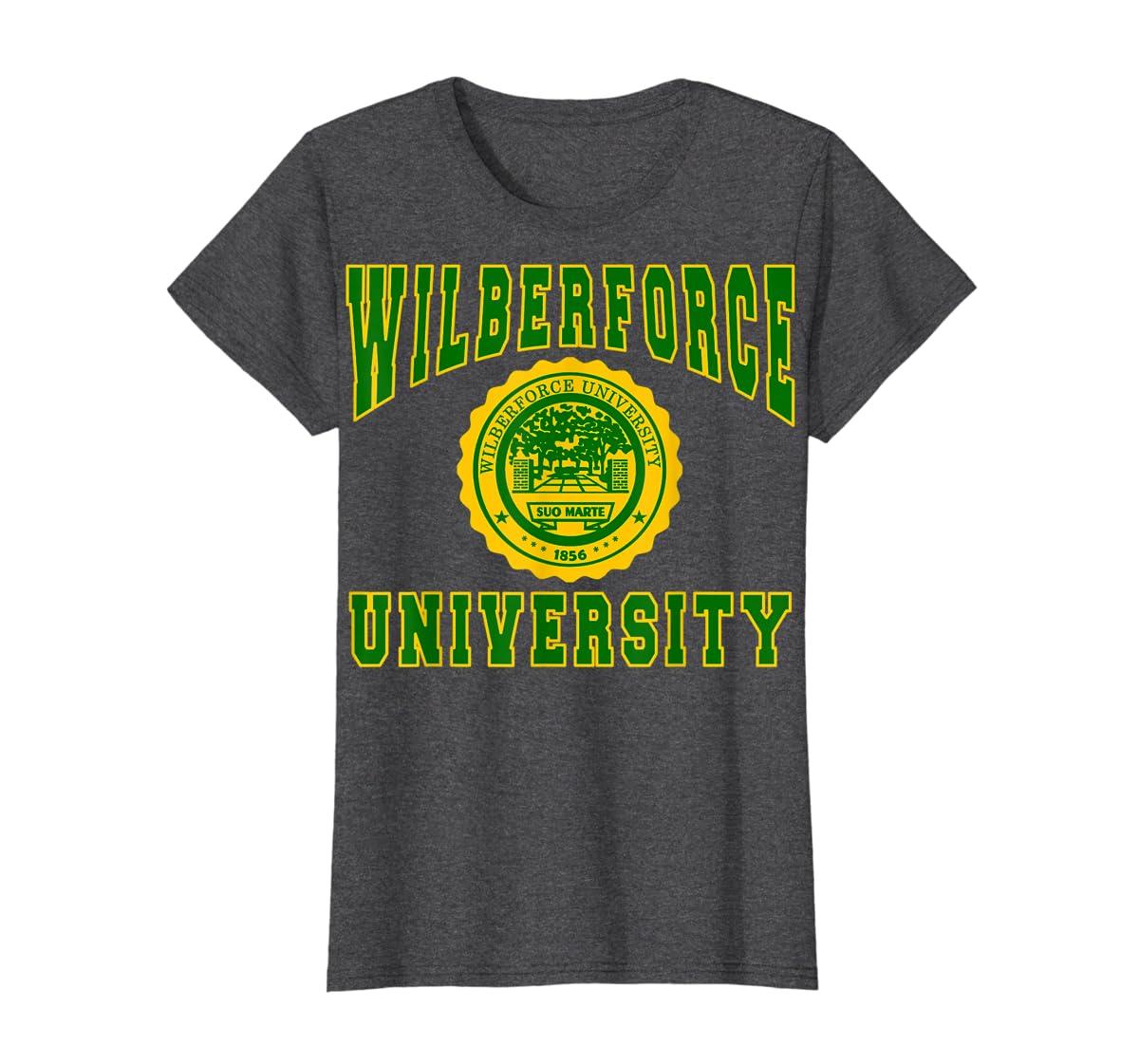 Wilberforce 1856 University Apparel - T shirt-Women's T-Shirt-Dark Heather