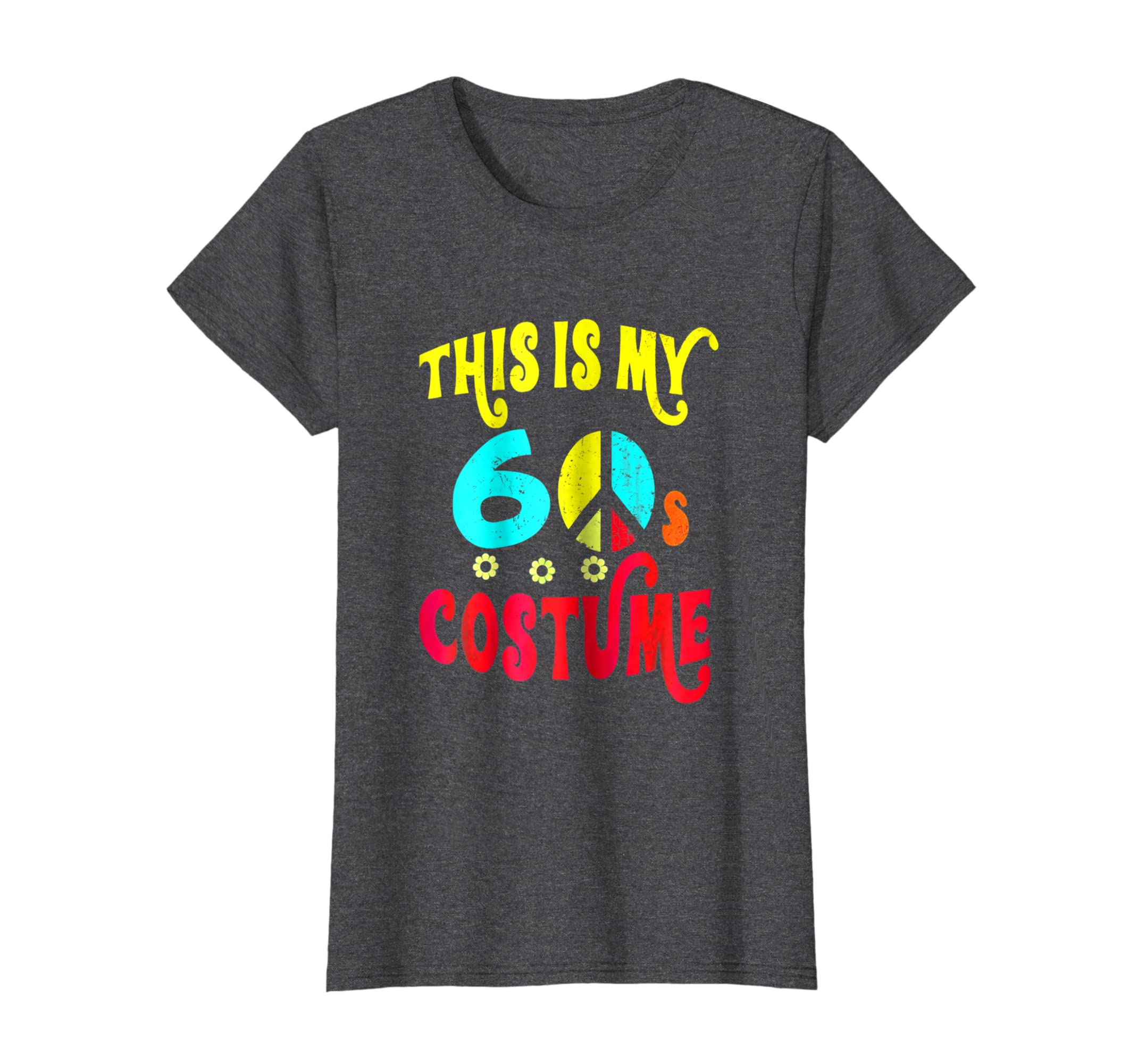 This is My 60s Costume Shirt Neon Groovy Peace Halloween Tee-Awarplus