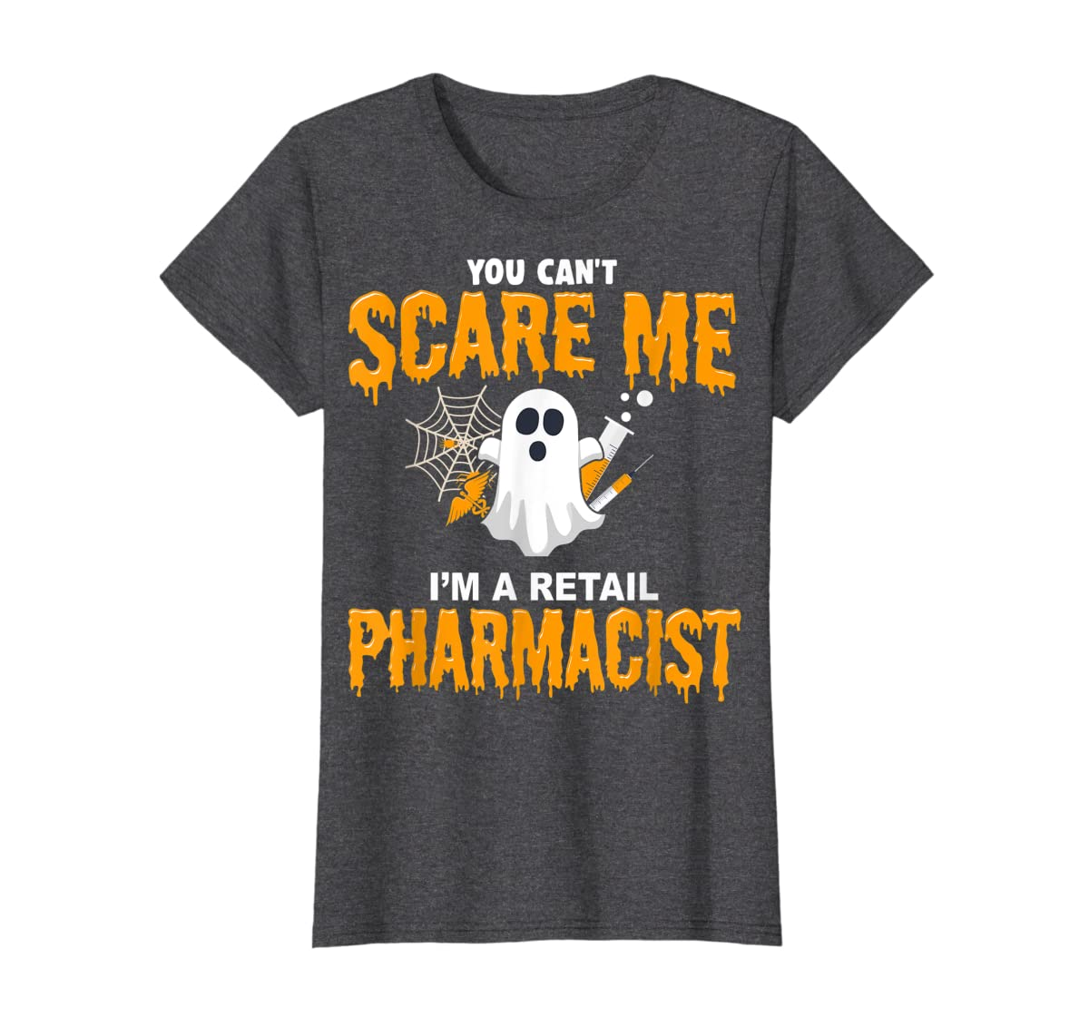 Halloween Costume Shirt I'm A Retail Pharmacist  T-Shirt-Women's T-Shirt-Dark Heather