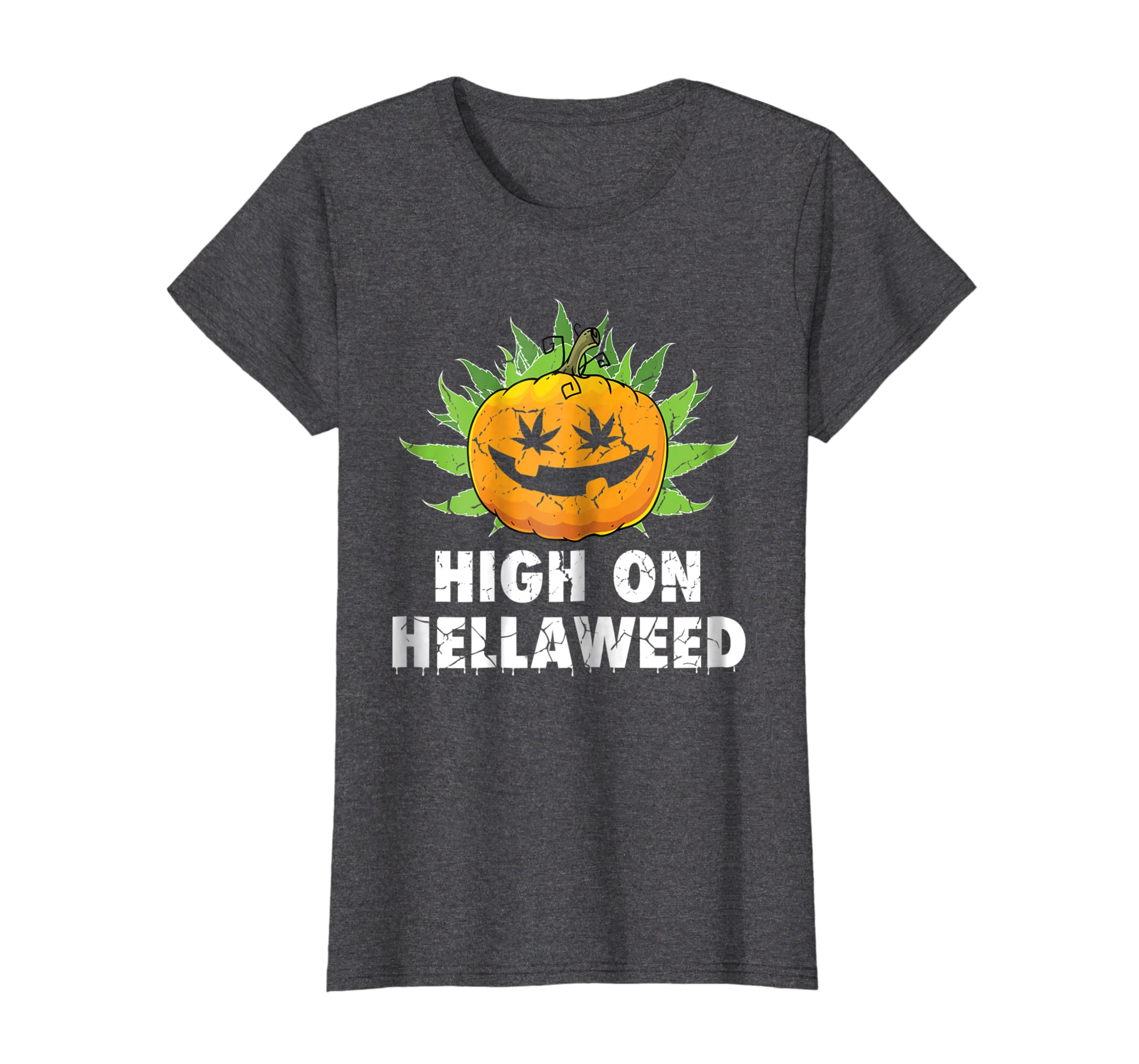 High On Hellaweed Halloween Weed Cannabis Marijuana Shirt-Bawle