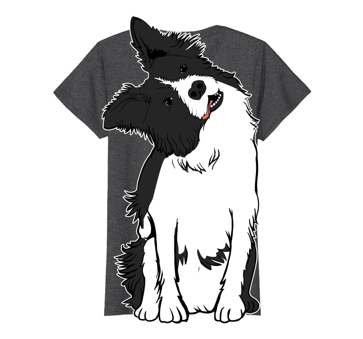 Walkies? Beautiful Border Collie Shirt - Sheepdog Gifts-Women's T-Shirt-Dark Heather
