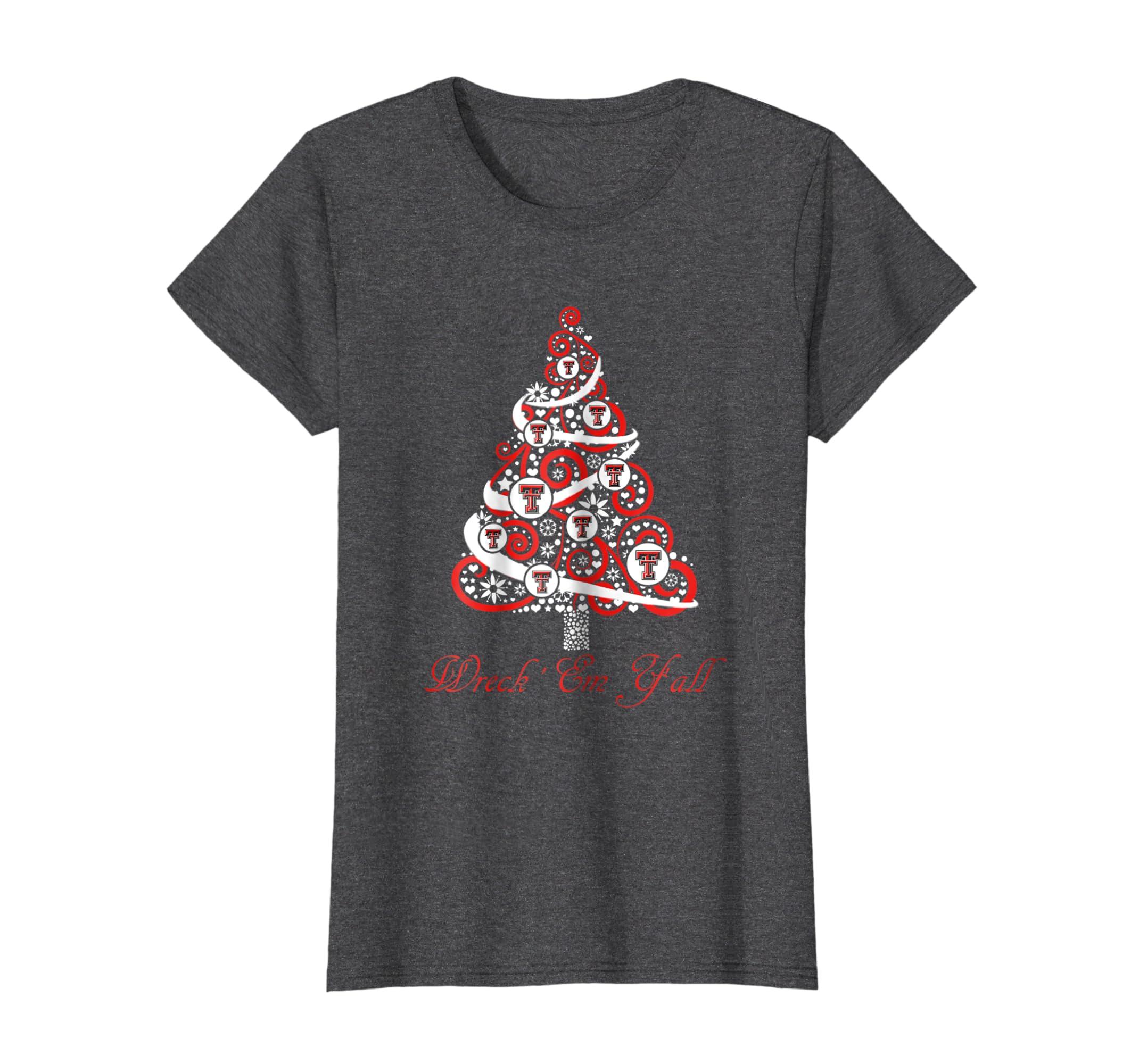 Amazon.com  Texas Tech Red Raiders Christmas Tree T-Shirt - Apparel   Clothing f152fc4a9