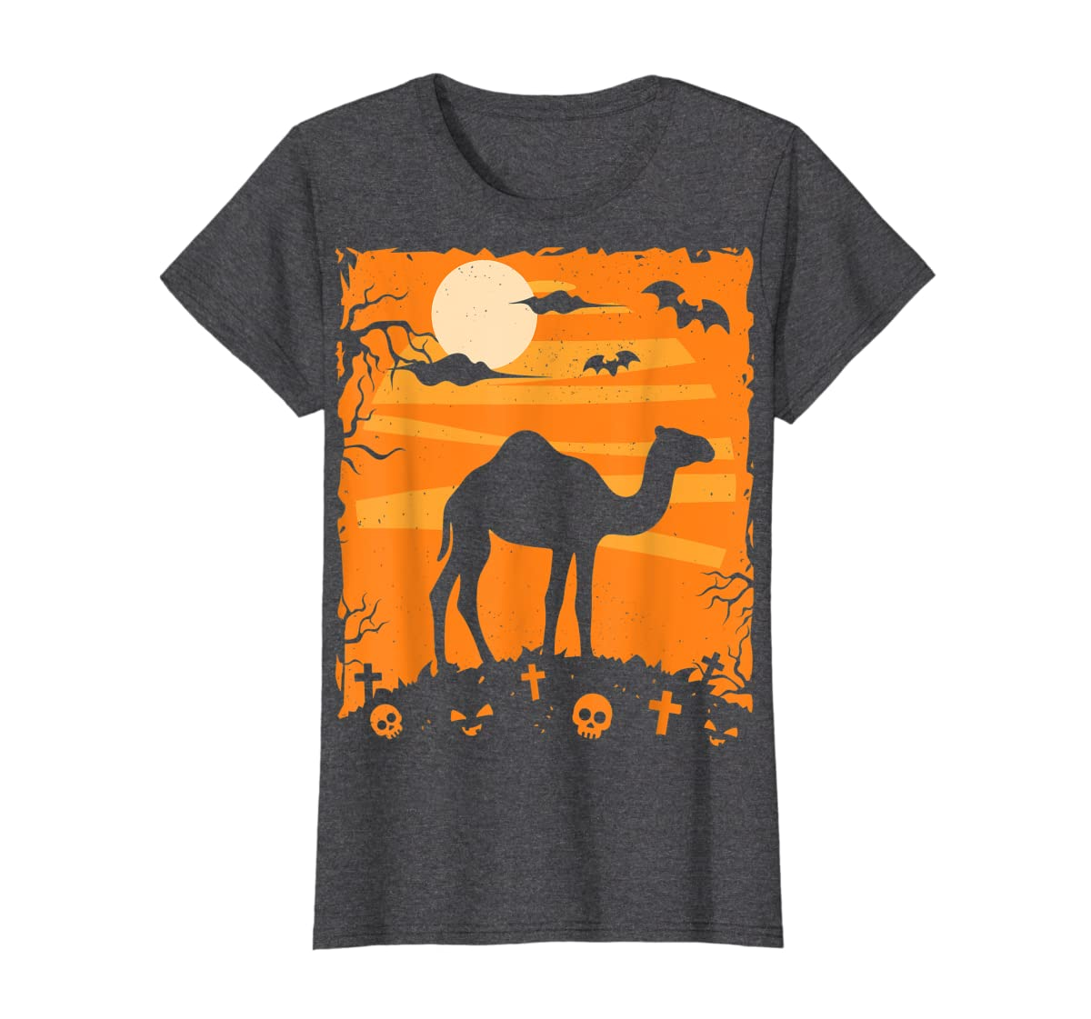 Camel Halloween Costume Animal Funny Pumpkin Outfit Gift T-Shirt-Women's T-Shirt-Dark Heather