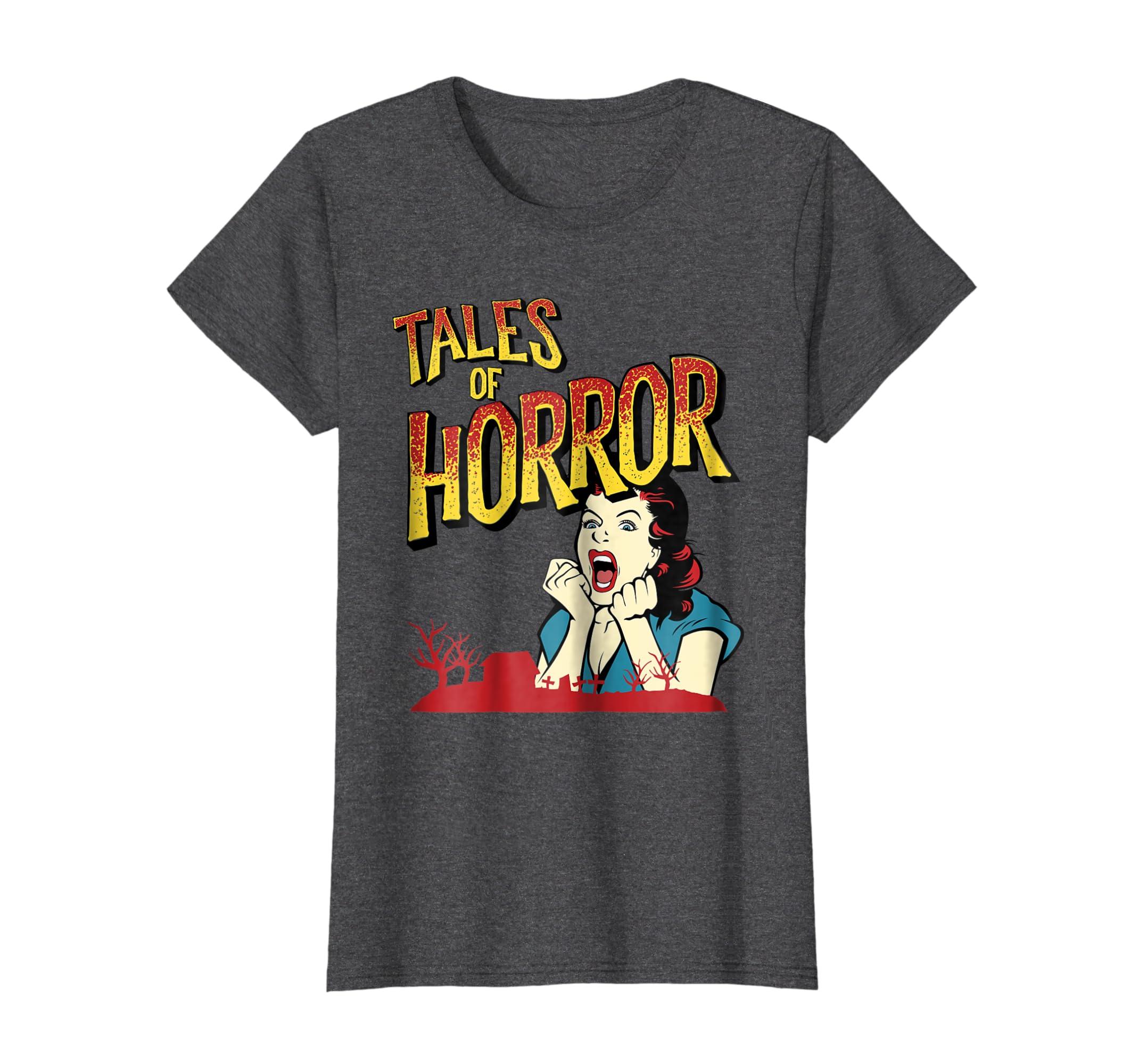 f40a5e2e1f03 Amazon.com: Vintage Horror Movie Poster Shirt Funny Halloween Shirt:  Clothing
