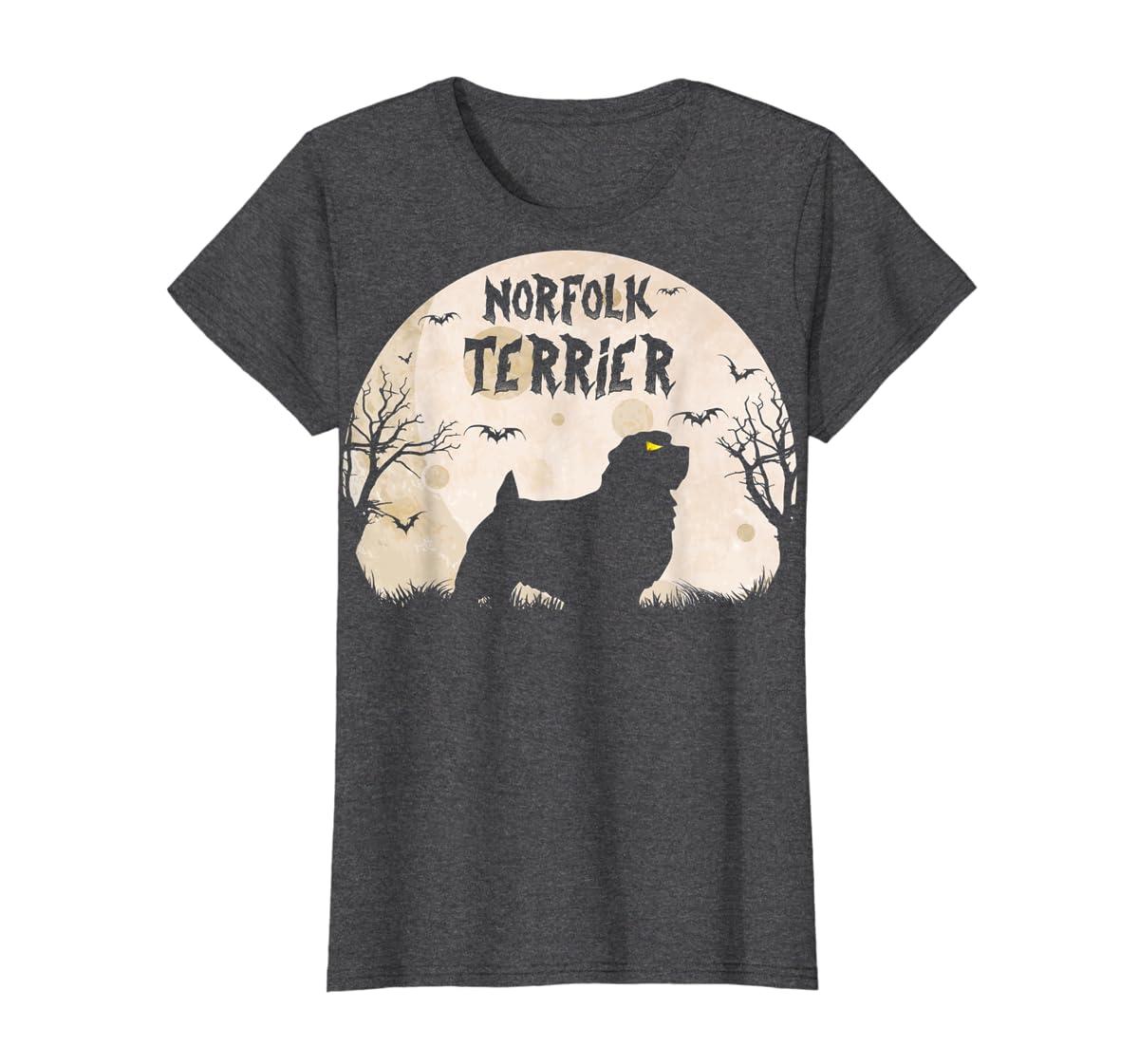 Halloween Horror Norfolk Terrier  T-Shirt-Women's T-Shirt-Dark Heather