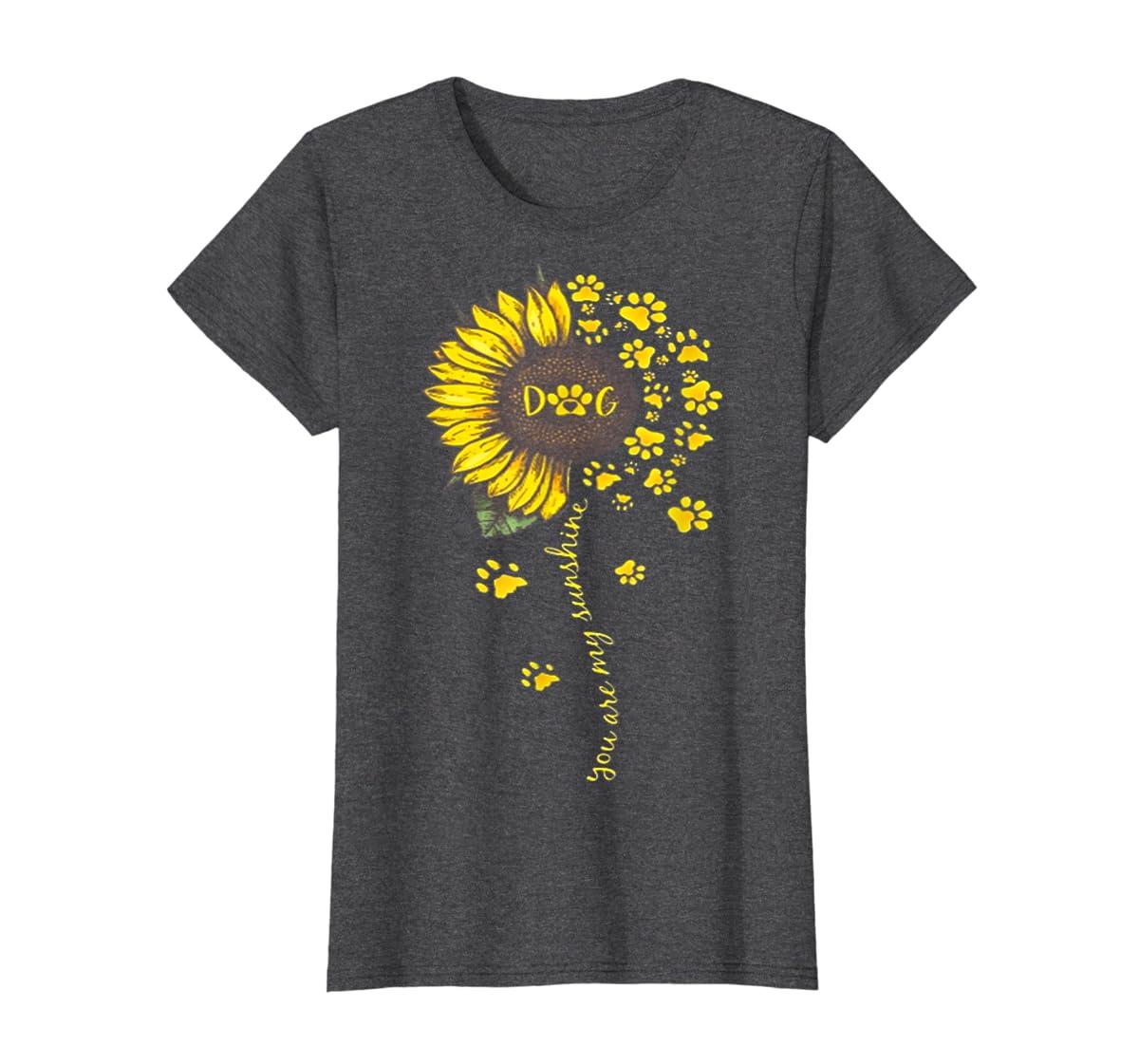You Are My Sunshine Dog Tshirt-Women's T-Shirt-Dark Heather