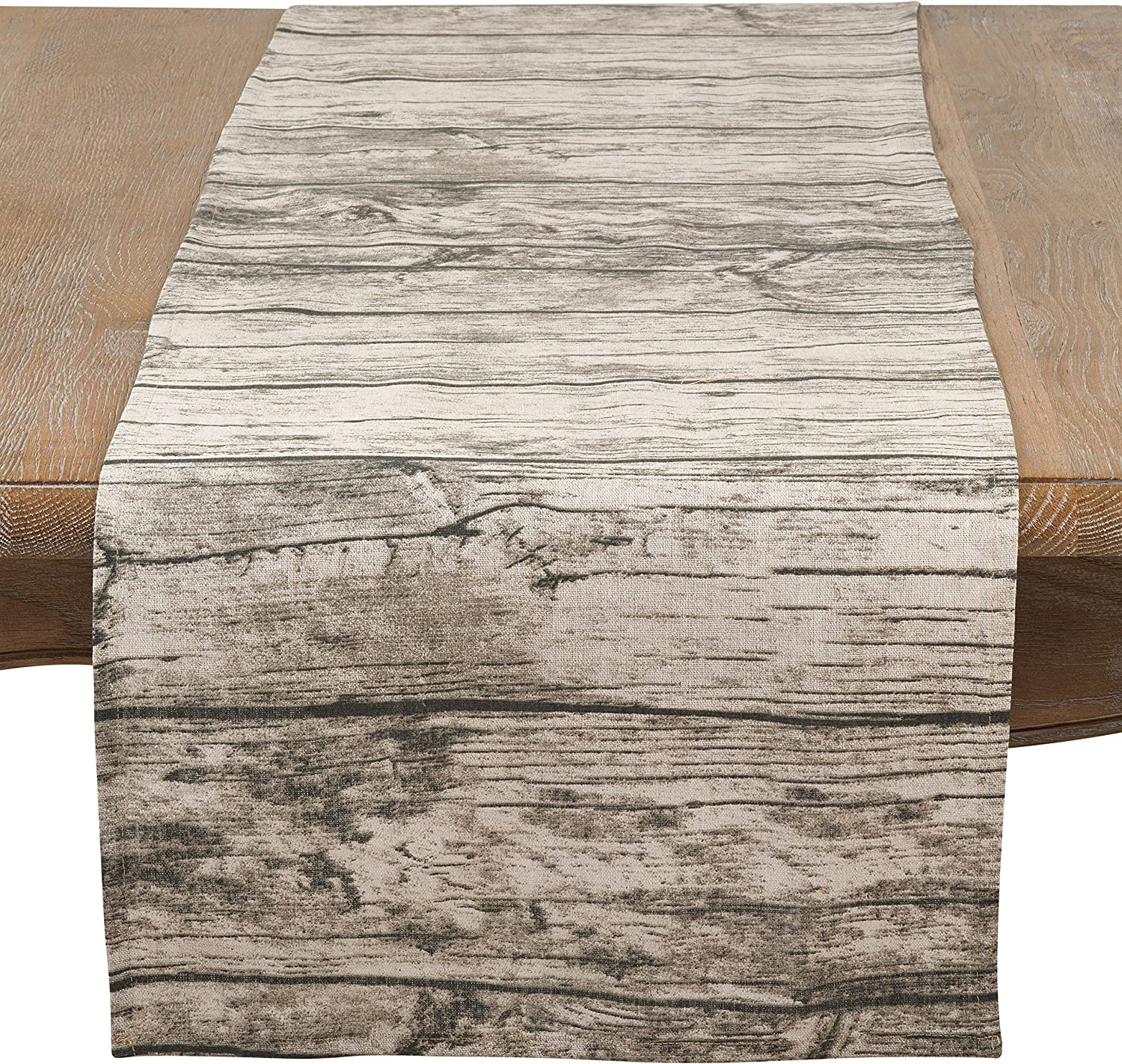 SARO LIFESTYLE Lignum Vitae Collection Printed OFFer Table Design sold out Wood