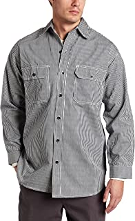 Key Industries Men's Long Sleeve Button Front Hickory Stripe Logger Shirt Big/Tall