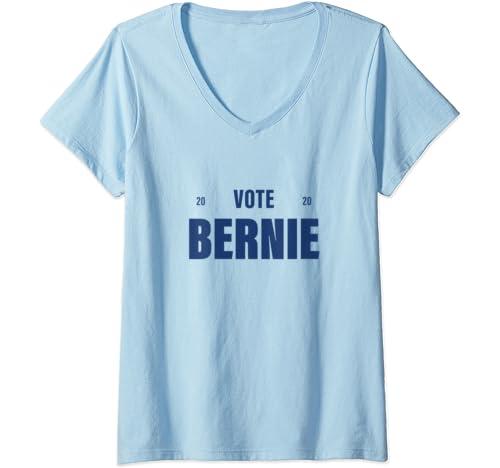Womens Vote Bernie 2020, Bernie Sanders 2020 President V Neck T Shirt