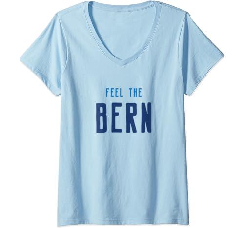 Womens Feel The Bern, Bernie Sanders 2020 President V Neck T Shirt