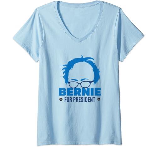Womens Bernie For President, Bernie Sanders 2020 President V Neck T Shirt