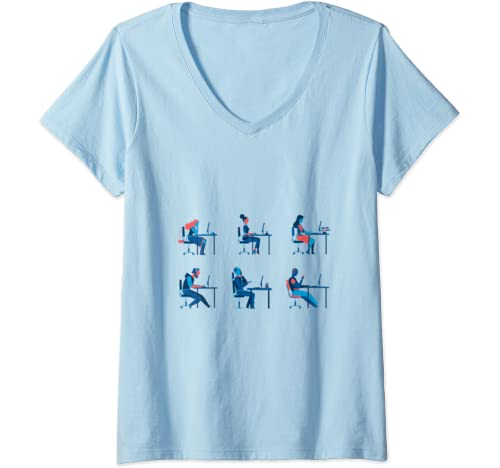 Womens People In The Office V Neck T Shirt