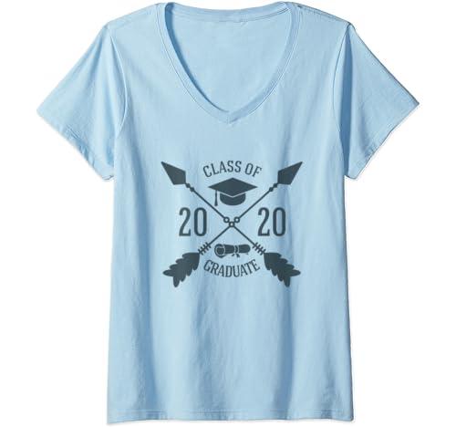 Womens Class Of 2020 Graduate Graduation 2020 Senior Students V Neck T Shirt