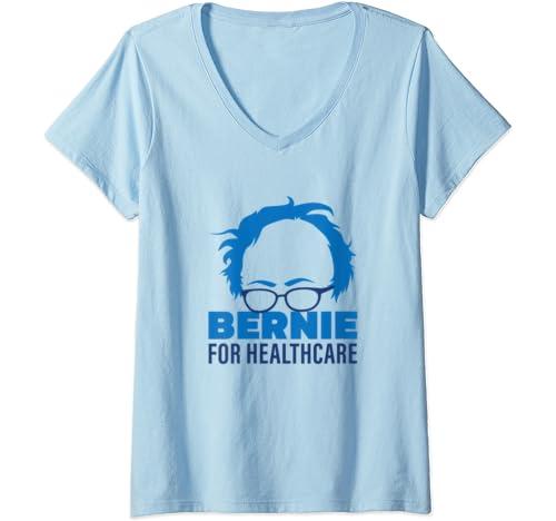 Womens Bernie For Healthcare, Bernie Sanders 2020 President V Neck T Shirt