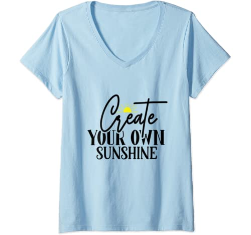 Womens Create Your Own Sunshine V Neck T Shirt