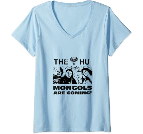 Womens The Mongols Are Coming! Cool V Neck T Shirt