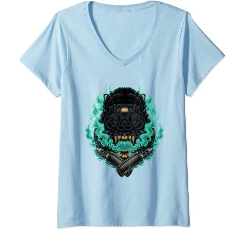 Womens Vaping Gorilla Funny Graphic Vaping Vape T Shirt Tshirt Tee V Neck T Shirt