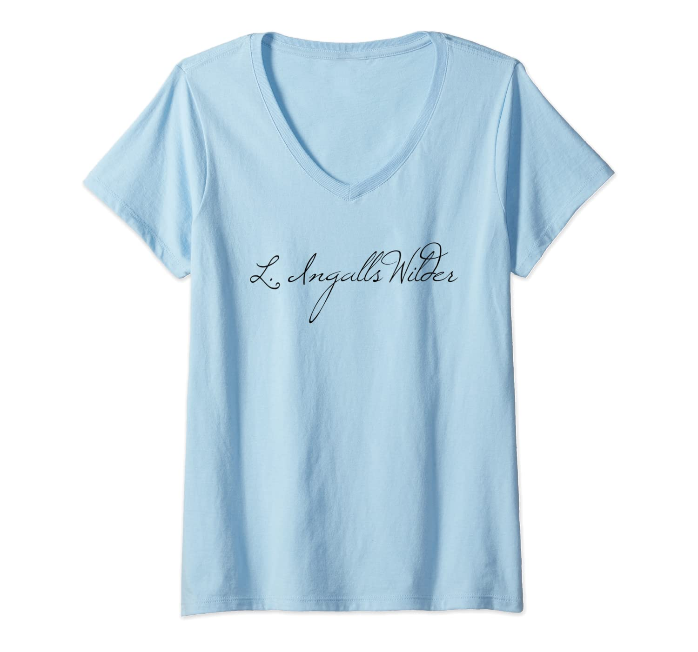 Laura Ingalls Wilder Classic Author Signature T Shirt