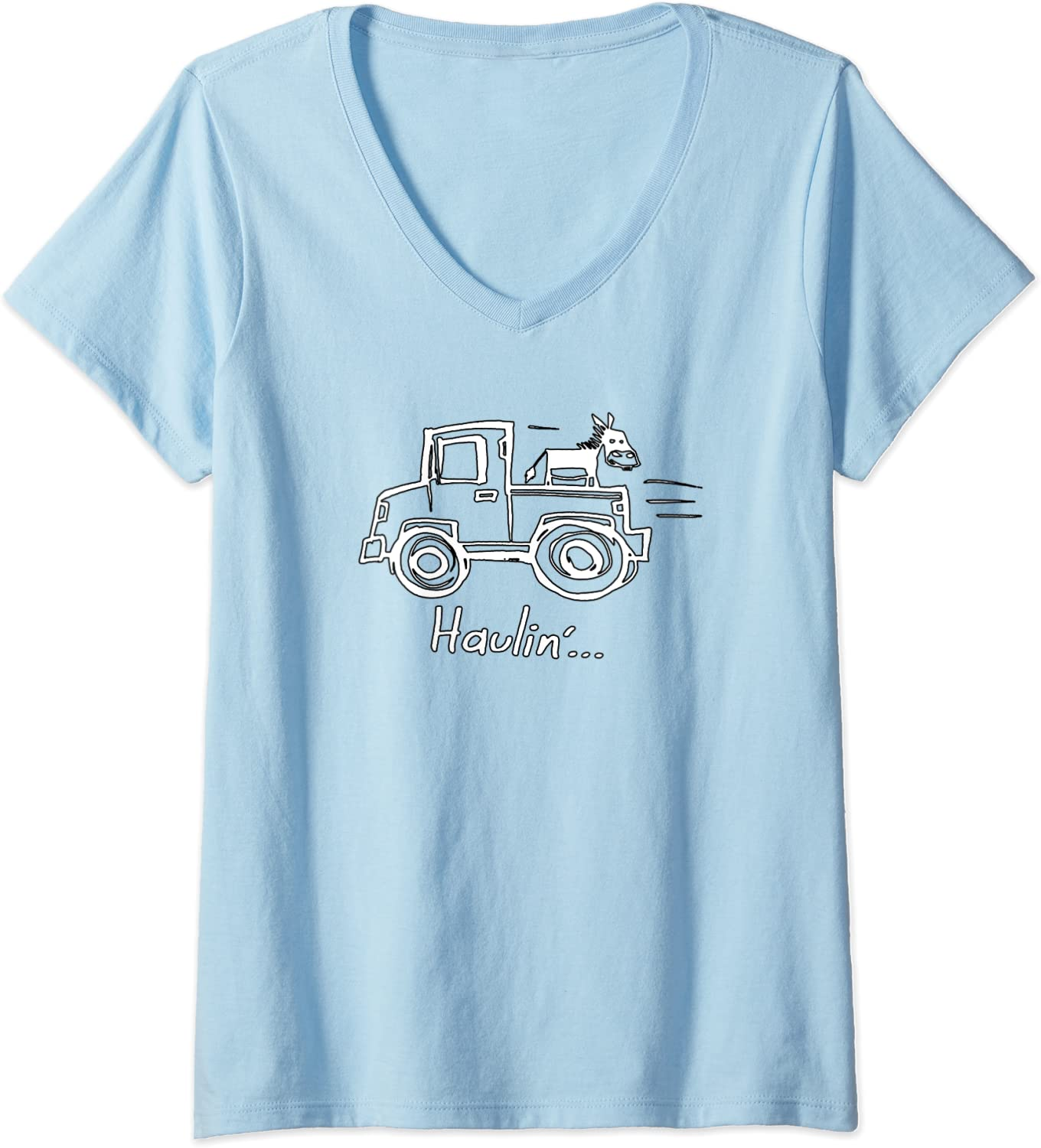 Soft Shirt Unisex Sizing BFF gift for her Haulin/' Ass Funny Donkey Vintage Pick Up Truck T-Shirt