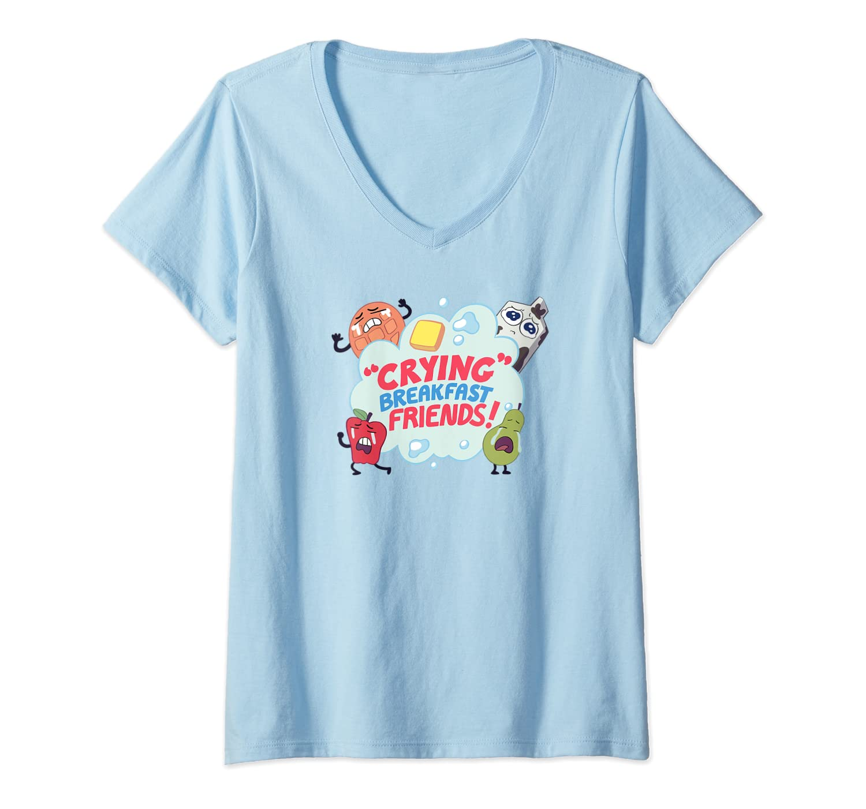 Steven Universe Crying Breakfast Friends Shirts