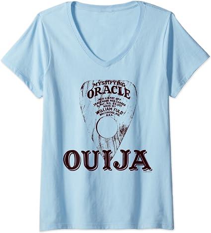 Mujer Ouija Vintage Planchette Logo Camiseta Cuello V