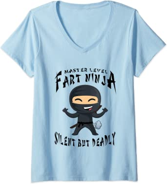 Fart Ninja Silent But Deadly Funny Womens Ladies T-Shirt