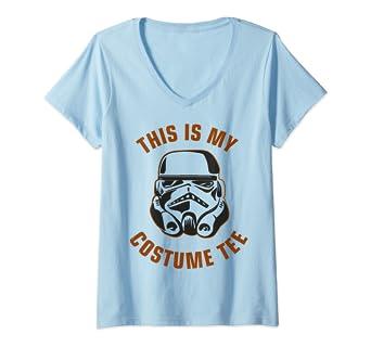 Amazon com: Womens Star Wars Stormtrooper Costume V-Neck T