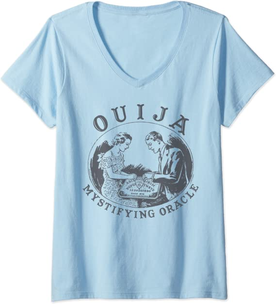 Mujer Ouija Mystifying Oracle Seance Camiseta Cuello V