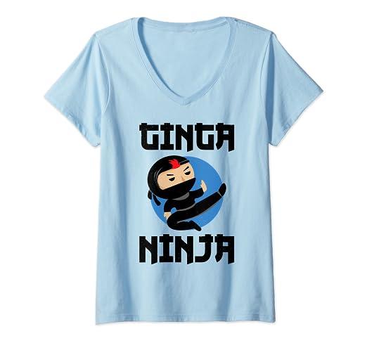 Amazon.com: Womens Ginger Pride Funny Redhead Ginga Ninja V ...
