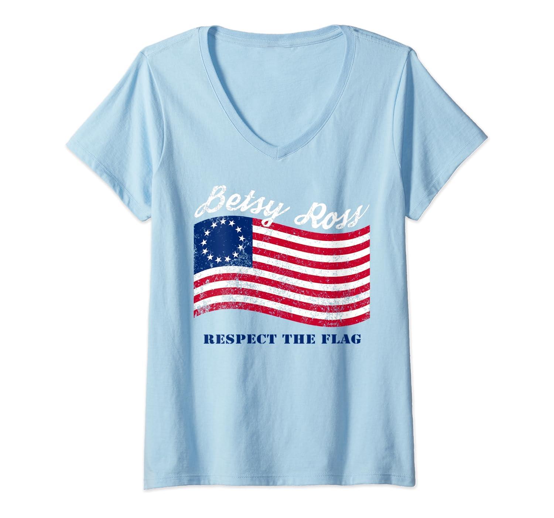 Usa Vintage Betsy Ross American Flag Shirt Art 13 Stars Flag T Shirt