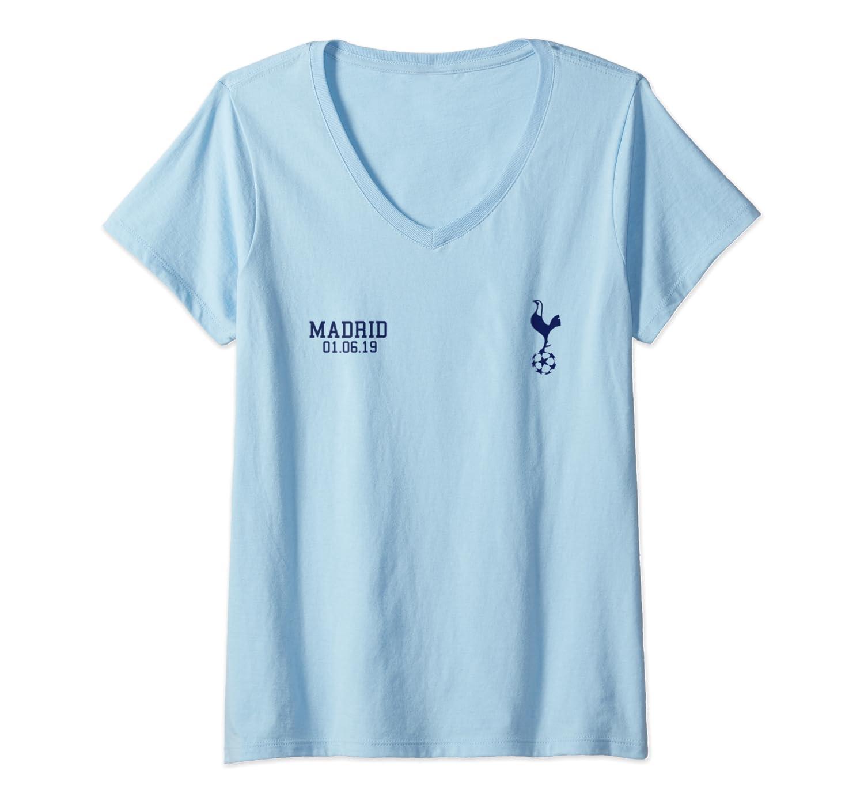 new arrival bbdd8 d0218 Womens Spurs Soccer Jersey Tottenham European Gift North London V-Neck  T-Shirt