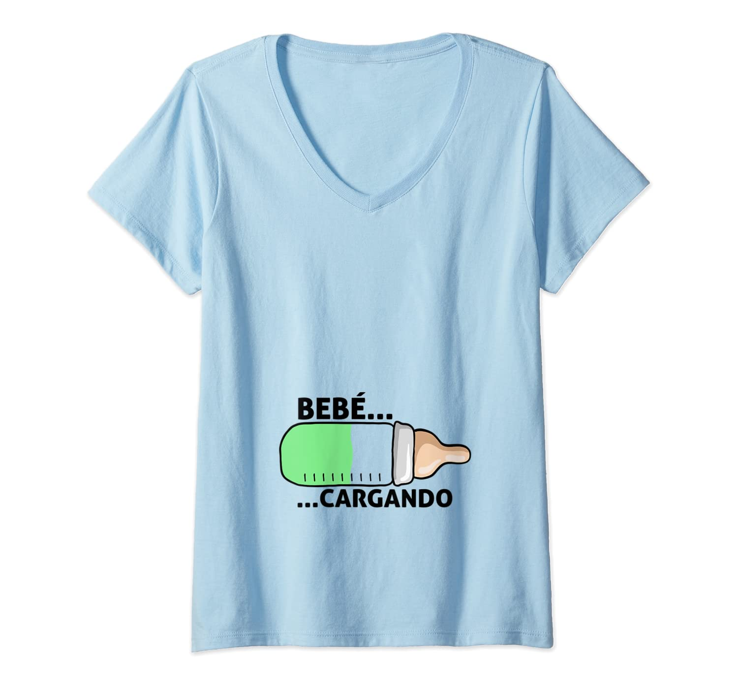 Amazon.com: Womens Camiseta para embarazadas - baby shower Bebe ...