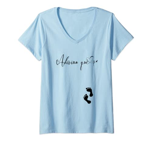 Womens Adivina Que? Guess What In Spanish V Neck T Shirt