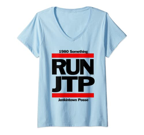 Womens Goldbergs Jtp Jenkintown Posse 1980 Something 1980's Rap V Neck T Shirt