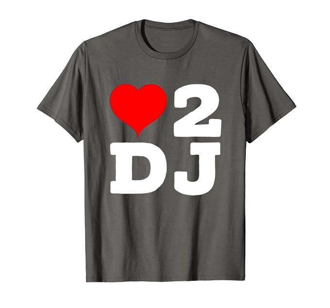 Amazon.com: I Love A DJ fiesta corazón 2 D.J concierto ...