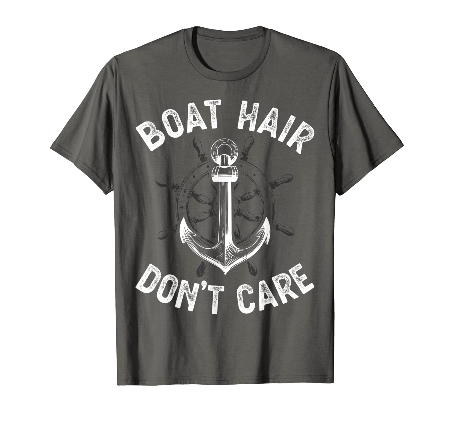 Boat Hair Don't Care T Shirt Girls Women Funny Boating Gifts T-Shirt