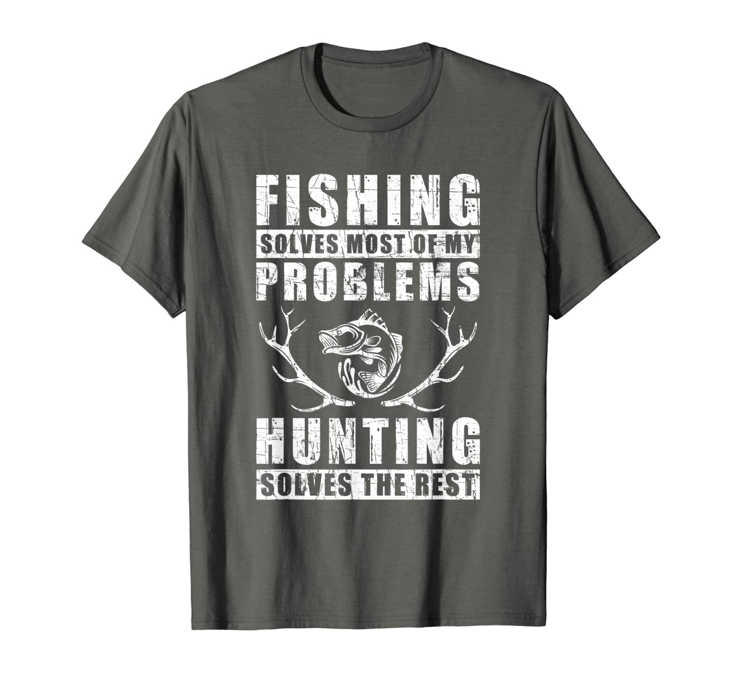 Fishing Solves Most Of My Problems Hunting Quote Gift T-Shirt Hoodie Tshirt