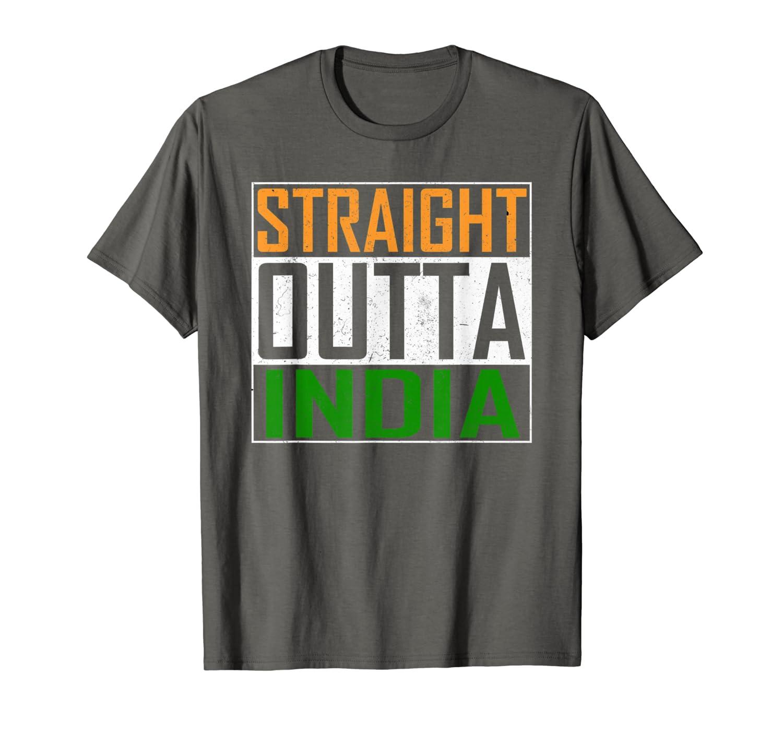 Amazon.com: Straight Outta la India playera Cool Bandera ...