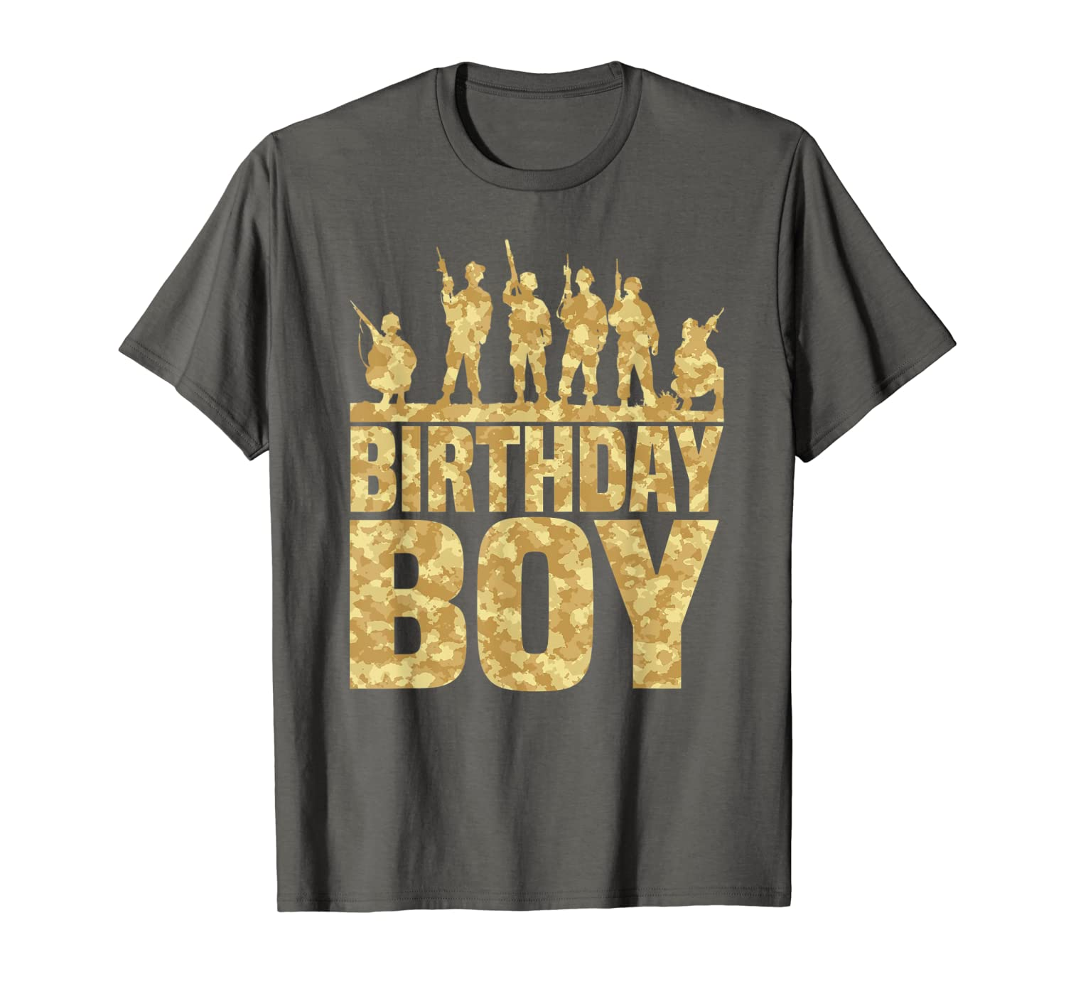 Birthday Boy Army Party Military Party Supplies Camo Gift T-Shirt-ANZ